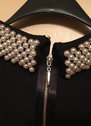 Короткое платье с отделкой от victoria beckham4 фото