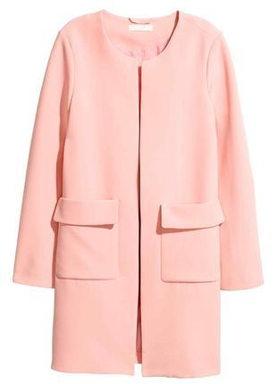 Супер цена !!! классическое розовое пальто жакет пиджак  куртка h&m с длинным рукавом