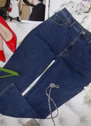 Винтаж, джинсы ровного кроя, типа мом, высокая талия