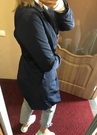 Плащ дождевик пальто балоний синее 44-46
