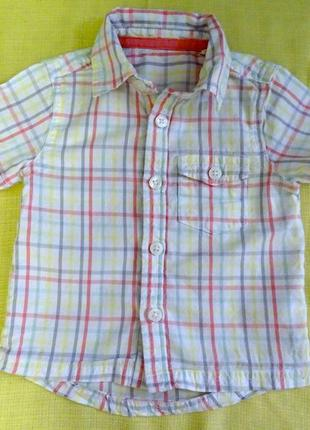 Сорочка, по бірочці 6-9 міс, на зріст 68-74 см (рубашка)