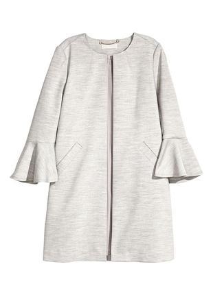 Распродажа!!! люксовое серое пальто куртка жакет пиджак h&m с длинным рукавом