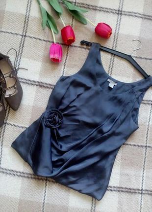 Атласная блузочка оригинальный дизайн h&m