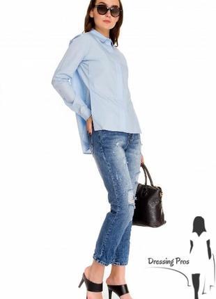 Рубашка virna dro голубого цвета (италия)