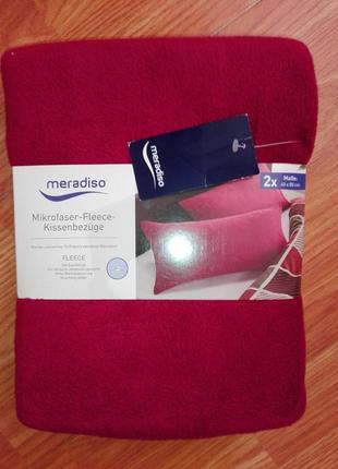 Комплект плюшевых наволочек 2шт. из микрофлиса 40 x 80 см meradiso германия. meradiso,