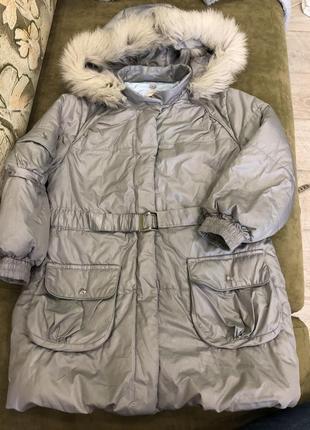 Срочно пальто италия laura biagiotti 116см натуральный мех