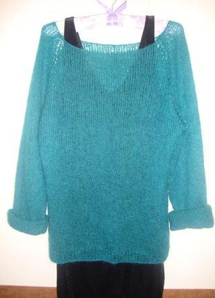 Модный свитер паутинка из кид мохера, размер с