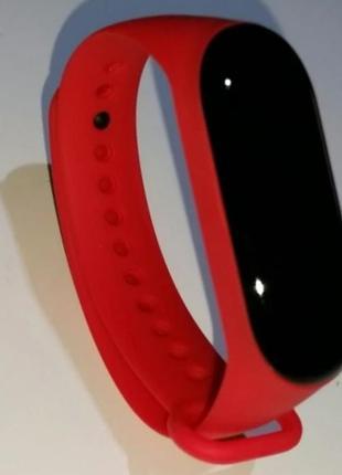 Ремешок фитнес браслет xiaomi mi band 3 ми бенд 4 mijobs красный