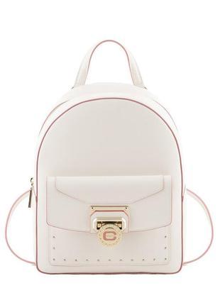 Кожаный рюкзак cromia,  италия. белый. оригинал