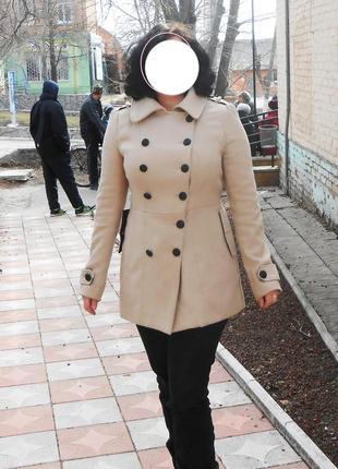 Стильное демисезонное пальто от бренда new look р. 48-50