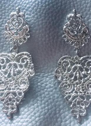 Симпатичные винтажные серьги ажурные3
