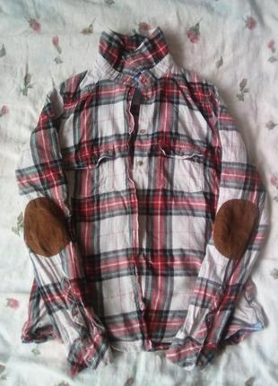 Рубашка в клеточку от h&m, женская рубашка