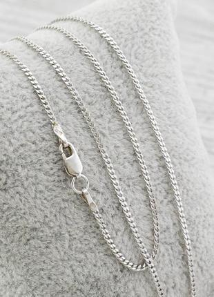 """Серебряная цепочка """"панцирная"""", ширина 1 мм, длина 45 см, вес 2.2г"""