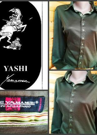 Стильная рубашка от yashi yamamuri, оригинал, р. l, пр-во италия