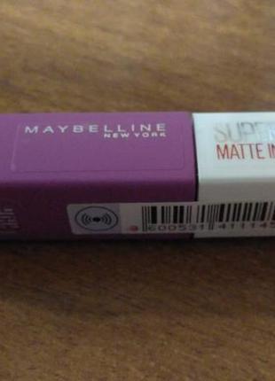 Жидкая помада для губ maybelline new york super stay matte ink - 35
