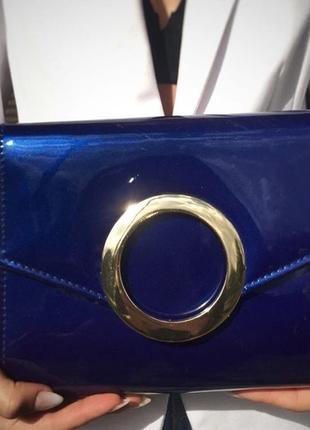 Жіноча сумка-клатч синього кольору