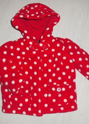 Яркое флисовое пальто (куртка)  george