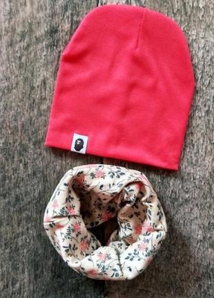 Комплект шапка и шарфик