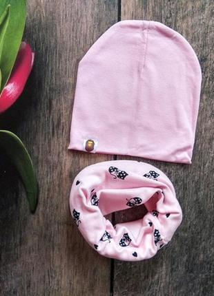 Комлект шапочка и шарфик