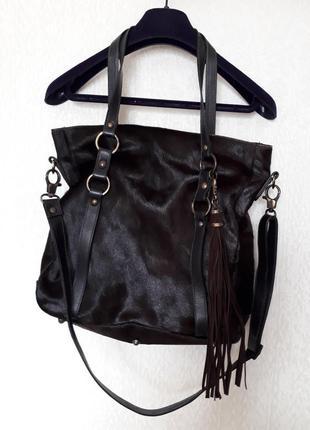 Дизайнерская кожаная сумка от gianni notaro carol j. кожа пони
