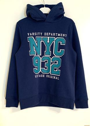 Стильное худи кофта свитшот свитер синий