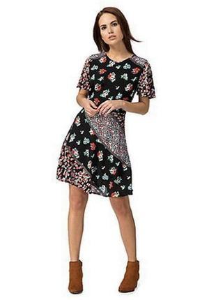Трендовое платье с комбинацией принтов redherring!!!!!! платье в цветочек!