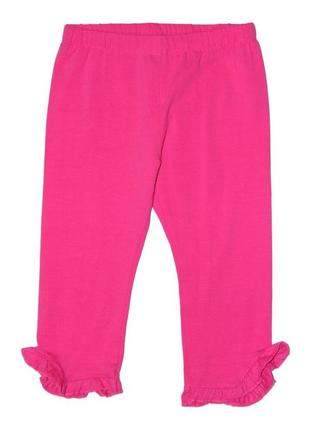 Новые розовые капри с оборками для девочки, ovs kids, 2384476