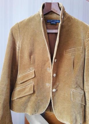Вельветовый приталенный пиджак# ralph lauren #оригинал