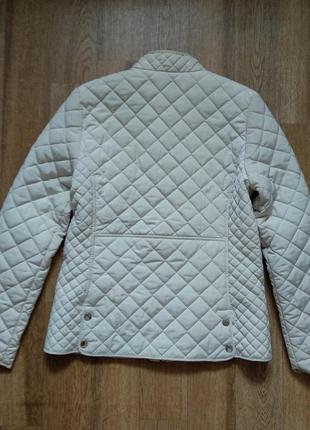 Стильная стеганая куртка ветровка на молнии с карманами стойка воротник от zara3 фото