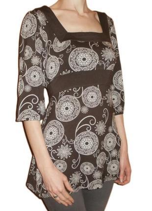 Кофточка, блуза colours of the world вискоза,цветочный принт размер наш 44 - 46