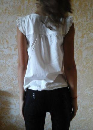 Клёвенькая блузочка рубашка блузка хлопок 10-12 лет