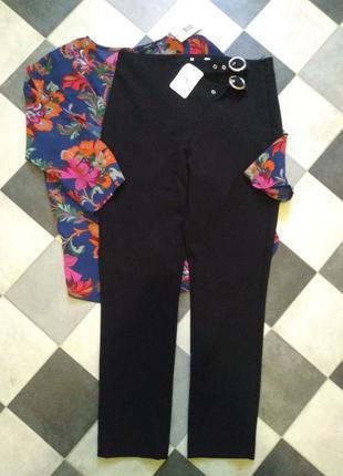 Крутые брюки с двойным поясом topshop
