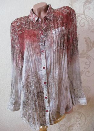 Блуза/рубашка шелковая плиссированная/змеиный принт/плиссе/l-xxl