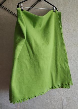 Плед, олеяло флис, зеленое покрывало