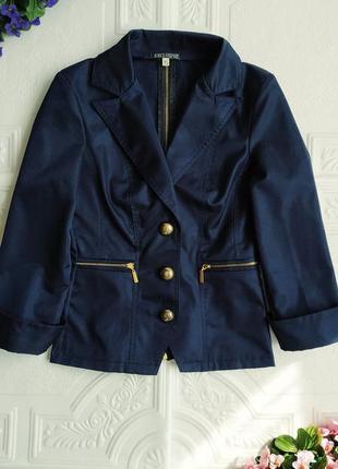 Короткий приталенный пиджак блейзер exclusive, рукав 3/4