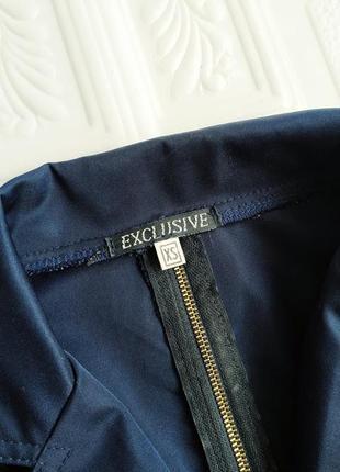Короткий приталенный пиджак блейзер exclusive, рукав 3/47 фото