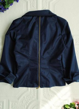 Короткий приталенный пиджак блейзер exclusive, рукав 3/45 фото