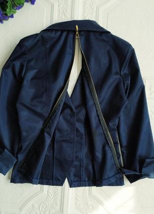 Короткий приталенный пиджак блейзер exclusive, рукав 3/46 фото