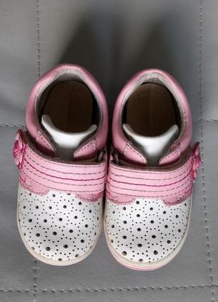 Летние туфли в дырочку для девочки с ортопедической стелькой вп2