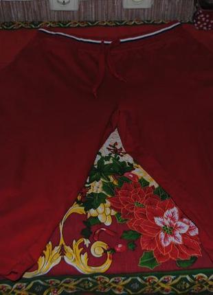 Фирменные удлиненные коттоновые шорты на крупные формы
