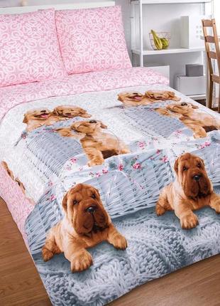 Верный друг, красивое постельное белье из нежного поплина