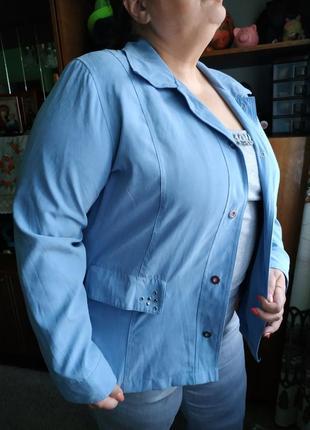 Весенняя куртка ветровка пиджак жакет батал