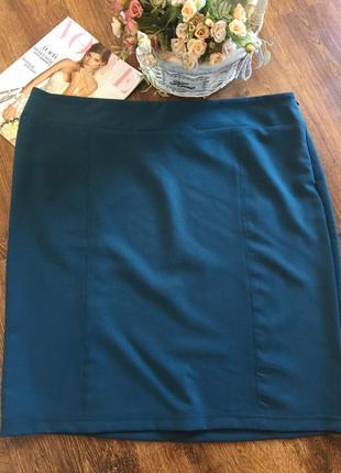 Стильная качественная юбка большого размера 22uk, наш 56-58.