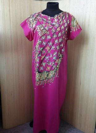 Платье туника хлопок с вышивкой / джалаба / галабея