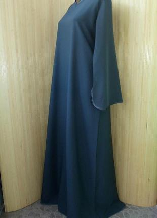 Темно серое базовое платье / рубаха / абая2 фото