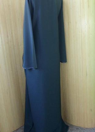Темно серое базовое платье / рубаха / абая3 фото