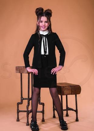 Школьная юбка кора для девочки тм сьюзи р.122-140