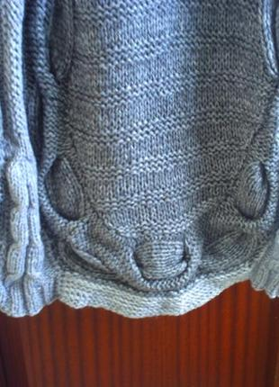 Шикарное вязаное платье р.l, ручная работа6 фото