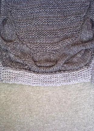 Шикарное вязаное платье р.l, ручная работа7 фото