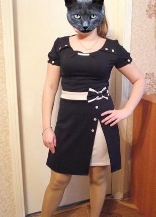 Шикарное двухцветное платье, р.48-50